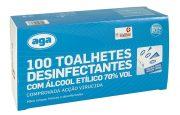 100 toalhetes Desinfectantes Alcool Etilico 70 vol